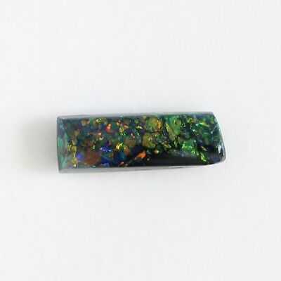 0.42CT 8.1x2.8 AUSTRALIAN BLACK OPAL NATURAL SOLID LOOSE STONE LIGHTNING RIDGE