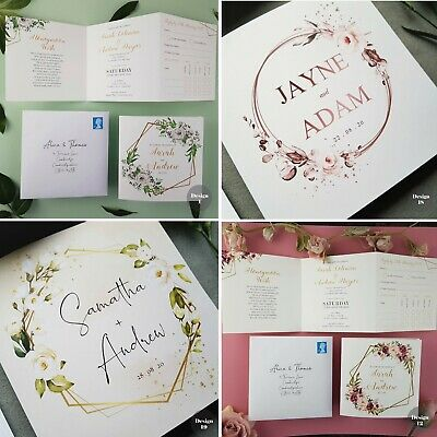 Personalised Wedding Invitations • Day or Evening Invites • Inc FREE Envelopes