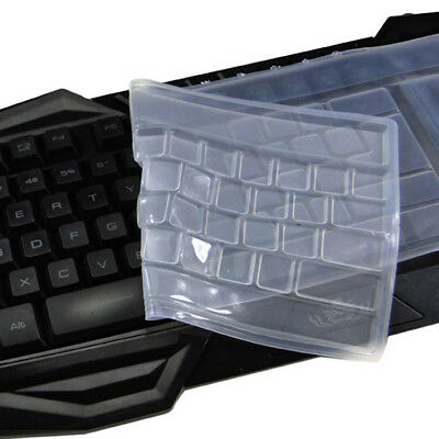 """Keyboard Cover Skin Keypad Clear Protective Film Silicone 15/"""" Universal Computer"""