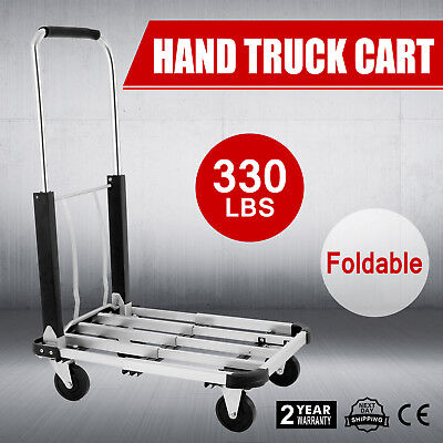 Aluminum Foldable Platform Hand Truck Cart Luggage 330lb Portable Dolly ON SALE
