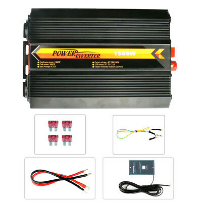 1500W Full Power Inverter DC 12V To AC 220V Converter 5V/2.4A Dual USB Charger