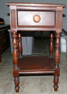 """PALM SPRINGS Furniture Cigar / End Table / Night Stand Cherry? Small Square 27""""H"""