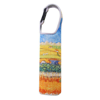 Baoblaze Water Bottle Cup Holder Bag Carrier Heat Insulator Case Cornfield