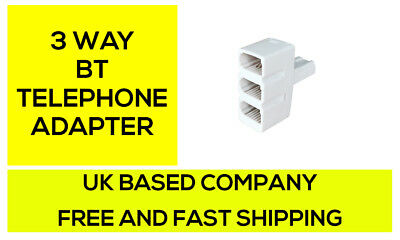 BT triple telephone Phone socket 3 way Adapter Splitter **BEST VERSION**