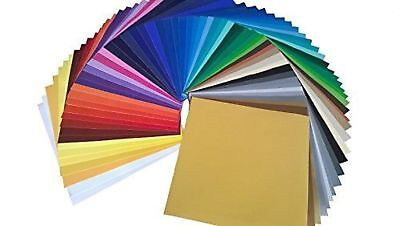 "Oracal 651 Starter Pack 61 Glossy Self Adhesive Vinyl Sheets, 12"" x 12"""