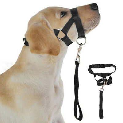Dog Muzzle Halti Style Head Collar Stops Dog Pulling Halter Training Nose Reigns