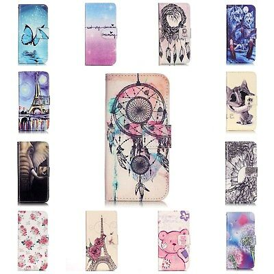 Flip Wallet Case Leather Fashion Stand Cover For Apple iPhone 6 6S 7 8 Plus UK
