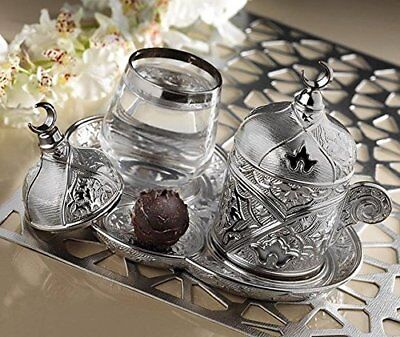 Premium Plated Coffee Set for Turkish, Arabic, Greek and Espresso Coffee gift