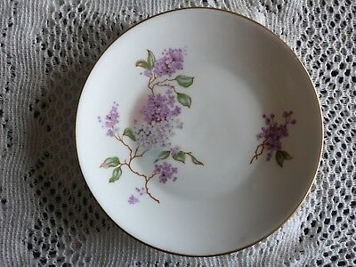 Crown Trent Fine Bone China Small Plate Gilded With Floral Pattern