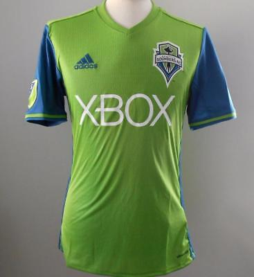SEATTLE SOUNDERS Adidas Official Home Shirt 2016 NEW Large Soccer Jersey L