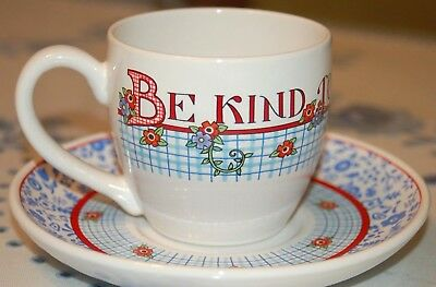 Mary Engelbreit Be Kind To Thy Sister Tea Cup Saucer Andrews McMeel Publishing