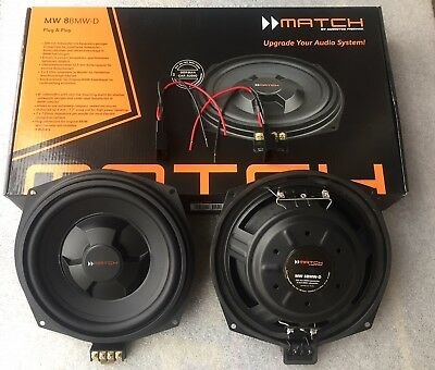 Match uprated subwoofers for all BMWs with underseat subwoofers 200w RMS