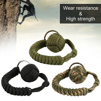 Monkey Fist Paracord Keycha550 Military Steel Ball Survival nuovo