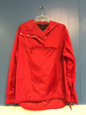 "Unisex Rain Jacket, Size Medium, Tommy Jeans, Red, Self Storing, 42"" Chest Max"