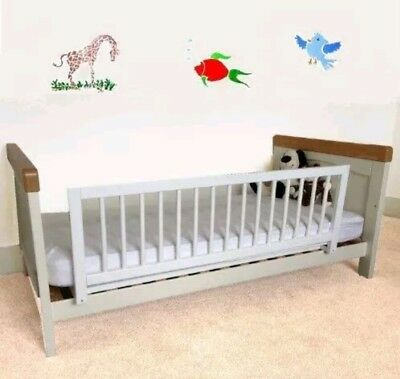 Kids Safety Bed Rail White Wooden Bed Guard Fits Baby Cots Single Double Beds
