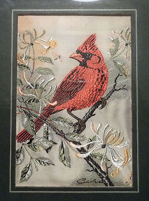 Cash's of Coventry CARDINAL Woven Silk Picture - Framed