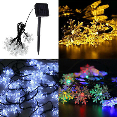 Snowflake Solar String Lights Multicolor Outdoor,Patio,Lawn,Landscape,Fairy