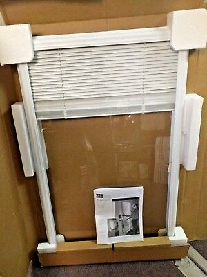 "ODL White Cordless Add On Enclosed Aluminum Blinds with 1/2 in. Slats 22"" x 36"""