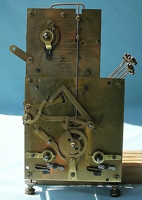 Three Train Quarter Striking Grandmother Clock Movement