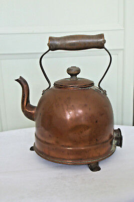 Early Electric Copper Kettle With Original Connectors - No Lead - Display Piece