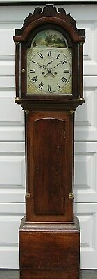 Eight day, White Dial, Oak Cased Longcase Clock by Wm Argent of Colchester