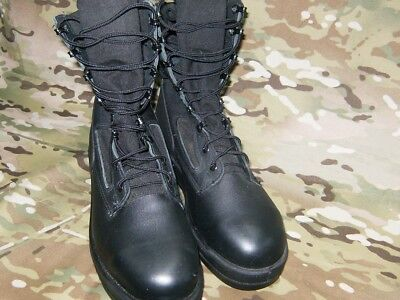 WELLCO STEEL TOE Jungle Boots Black Leather Us Navy Size 8.5W ... 60f9e684241