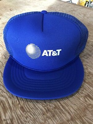 "Vintage AT&T One Size ""Fits All"" Snapback Mesh-Back Trucker Baseball Cap Hat"