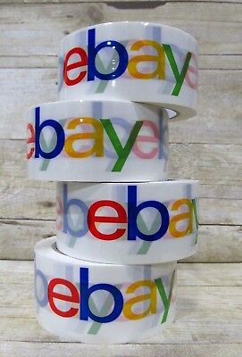 """4 Rolls Official eBay Branded Packaging Tape - Packing & Shipping 2"""" x 75 yards"""