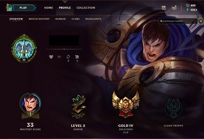 League of Legends Gold Account NA HAND LEVELED