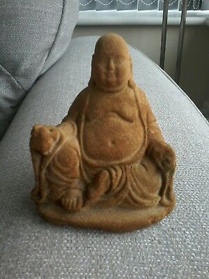 Vintage Buddha Statue. Lovely Condition. Stone Material. Height 5.5 Inches.