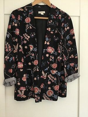 Monsoon ladies black and floral jacket size 14