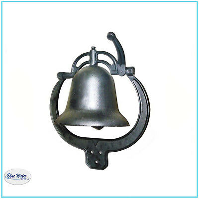 CAST IRON FARM BELL Antique Outdoor Large Nostalgic Dinner Cow Bell