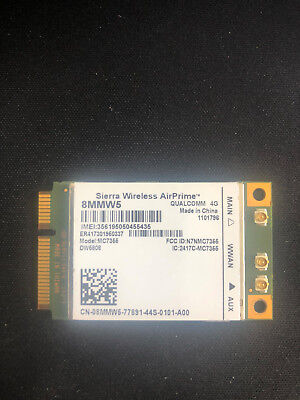 used Sierra Wireless Airprime MC7355 Dell DW5808 4G Mobile Broadband Card 8MMW5