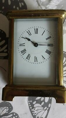 c1900 FRENCH 8 DAY KEY WIND BRASS CARRIAGE CLOCK by R&C (RICHARD ET CIE)