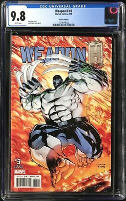 Weapon H #3 CGC 9.8 Cory Smith 1:25 Incentive Variant Cover!