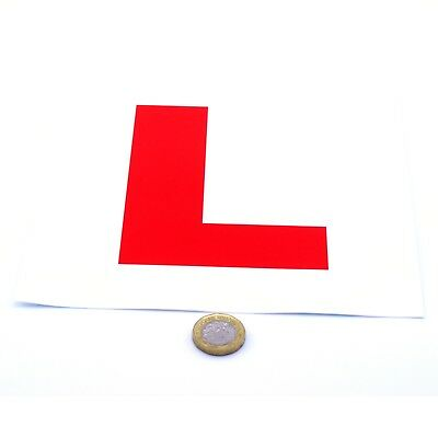2x Learner Driver L Plate Stickers Vinyl Legal Size Car Decals