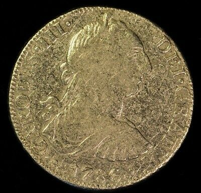 1786 Mexican 8 Reale F.M. ITEM AE37