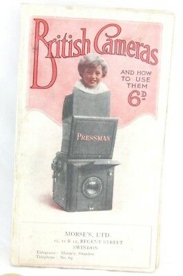 """British Cameras & How to Use them"" BUTCHERS Antique Photography Catalogue,1923"