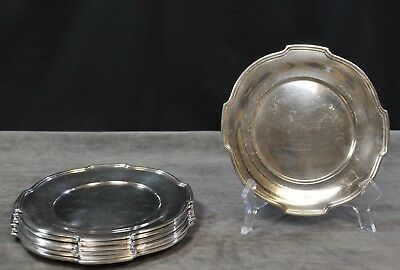 Wallace Sterling Silver Bread Cake Plates Set of 7 THE WASHINGTON Pattern (CAR)