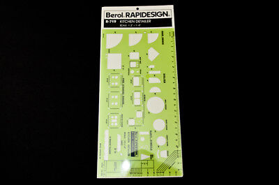 NOS Berol Rapidesign Stencil Template R-130 General Traffic Symbols