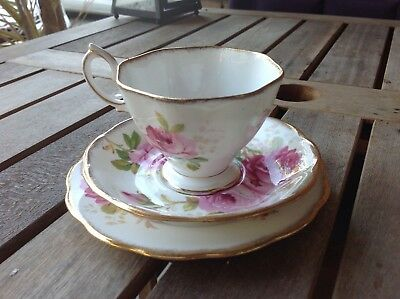 Royal Albert American Beauty tea cup saucer and plate- superb