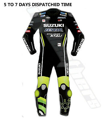 New Suzuki Ecstar Motogp 2018 Motorcycle Motorbike Leather Racing Suit