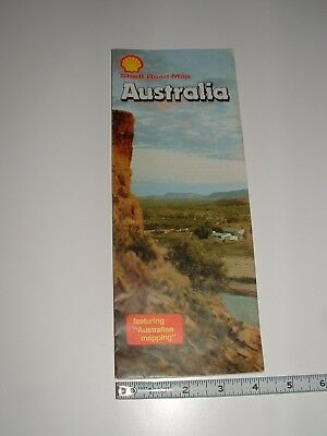 Shell Road Map - Folding Australia Map, From Early 1980's, pre-owned