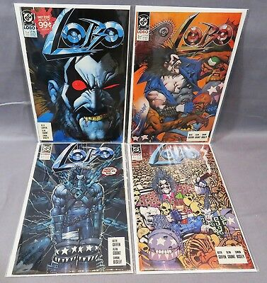 LOBO #1 2 3 4 (Full Run 1-4) Unread High Grade DC Comics 1990 Bisley, Grant
