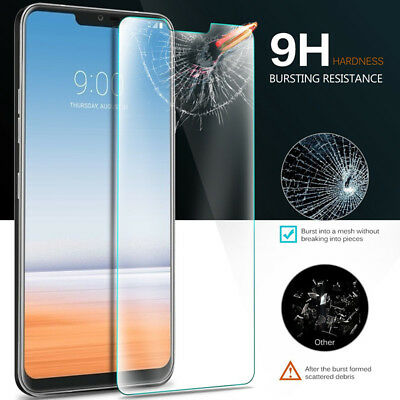 LG G7 [3-PACK] Tempered Glass Screen Protector 9H Hardness Shatterproof Clear