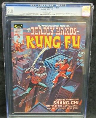 Deadly Hands of Kung-Fu #13 (1975) Marvel Shang-Chi CGC 9.0 K557