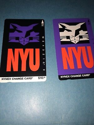 NYNEX Phone Card Unused 1995 NYU New York University