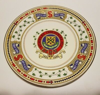 Commemorative Plate Caverswall Staveley Industries 125 years 1863-1988 England