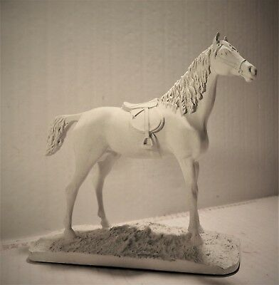 Attractive Saddled Horse Statue Figurine...