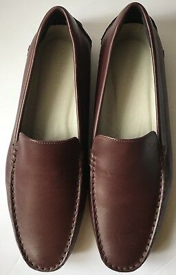 691540374 New Lacoste Piloter 117 Cam Leather Dark Brown Loafer Shoes Men s Size 12